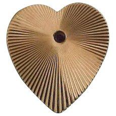 14K Tiffany & Co. Heart Pin with Ruby