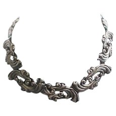 Classic Vintage Taxco Sterling Silver Linked Necklace