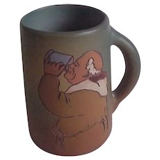 WELLER  Dickensware Signed Art Pottery Mug