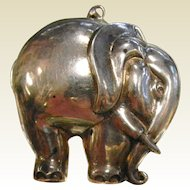 Vintage R.M. TRUSH Signed Sterling Silver Elephant Pendant