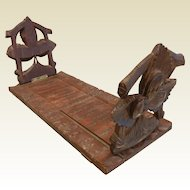 Old Vintage Hand Carved Wooden Book Stand