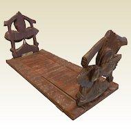 Old Vintage Hand Carved Wooden Book Stand