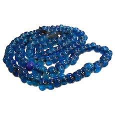 Old Vibrant Cobalt Blue Glass Trade Beads