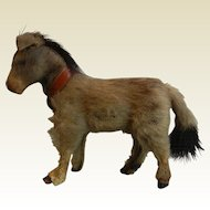 Vintage German Real Fur Animal - Donkey