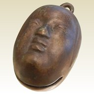 Vintage Asian Face Bronze Bell