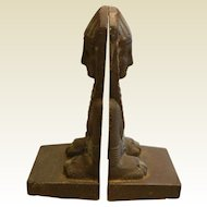 Vintage Egyptian Pharaoh Cast Iron Bookends
