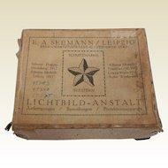 Boxed Set of 5 Vintage B&W Glass Plate Negatives Seestern-Lichtbilder E.A. Seemann Leipzig
