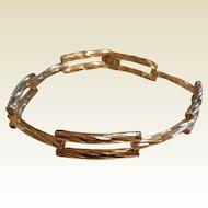 Fine Vintage Twisted Gold Link Bracelet