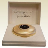 """Vintage """"Evening Oval"""" Superglow Pressed Powder Compact by Germaine Monteil - FRENCH ROSE"""