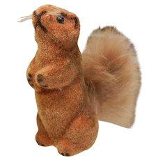 Vintage German Real Fur Animal Figure - Squirrel