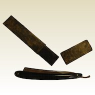 Vintage Black German Ground Straight Razor