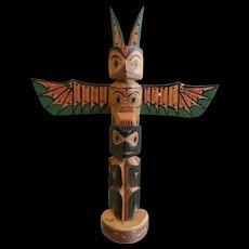 Vintage PNW Hand Carved Totem Pole