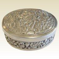Antique German Signed LKB 800 Ornate Silver Box