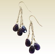 Fine 1/20 14K Gold Filled Earrings w/ Natural Amethyst