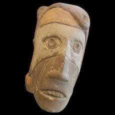 Vintage Hand Carved Stone Pipe Head