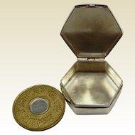 Fine Sterling Silver Pill Box w/ Fare Token