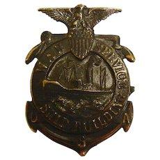 Vintage WWI Era War Service Ship Building Pin #160521