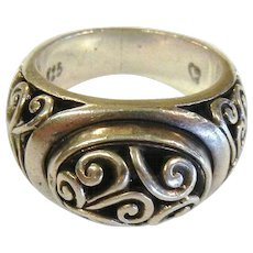 Embellished Sterling Silver Ring - Size: 8