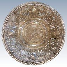 Fine Antique 800 German Silver Proposal Bowl
