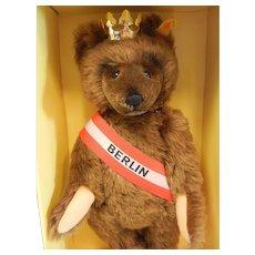 Vintage Steiff Bear 0251/34 Berlin Bear w/ 24K Gold Plated Crown