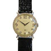 Vintage 14 K White Gold/Diamond Hamilton Wrist Watch