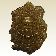 Old 1909 Pollock & Sons Alaska Gold Nugget Medallion - Alaska Yukon Pacific Exposition Chief Seattle