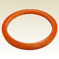 Vintage Orange Bakelite Bangle Bracelet