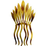 Vintage Patented 1915 Tortoise-Shell Plastic Hair Comb