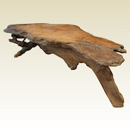 Amazing Large Old Artistic Burlewood Driftwood Coffee Table