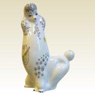 Vintage 1960's-70's FOLEY Bone China Stylized Poodle Dog Figurine