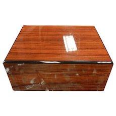 Super Fine Italian Lacquered Burl Wood Cigar Humidor Box
