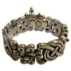 Vintage Signed Spratling Mexico Sterling Silver Bracelet