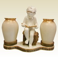 Antique Moore Brothers Porcelain Three Piece Centerpiece