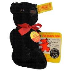 "Vintage Steiff Original Black Teddy Bear Black 0208/14 - 6"""
