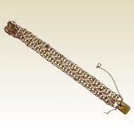 Vintage American 1/20 12K Gold Filled Link Bracelet