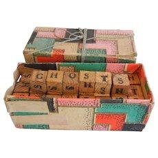 "Vintage Wooden Block Game ""GHOSTS"""