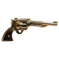 Vintage SWANK Revolver Tie Bar