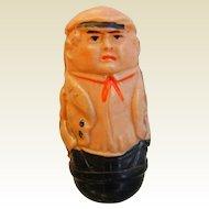 Vintage Celluloid Plastic Bobble Sailor