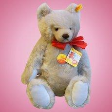 "Vintage Steiff Original Grey Mohair Growler Jointed 15"" Teddy Bear 0207/41"