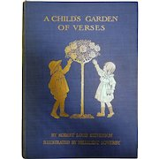 Vintage Hard Cover Book 'A Child's Garden of Verses' by Robert Louis Stevenson