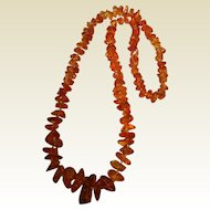 Super Vintage Golden Nugget Amber Necklace