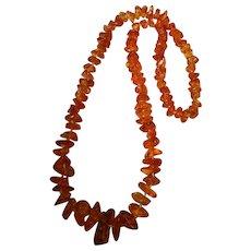 Super Vintage Golden Nugget Amber Necklace