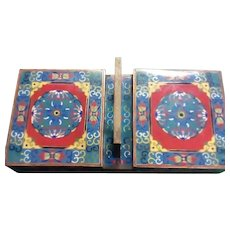 Fine Vintage Unique Chinese Enameled Double Sided Box