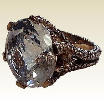 Large Stephen Dweck  Designer Ring with Natural Quartz