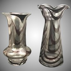 Contemporary pulled loop art glass vases, Tyrol, date unknown