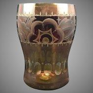 Adolf Rasche, Haida, Cut and Stained Bohemian art deco glass vase, ca. 1930s