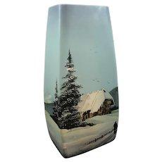 Legras French Enameled Art Glass vase, ca. 1920