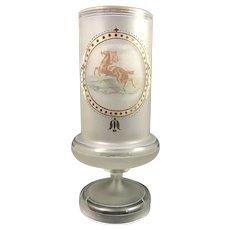 Harrach, Neuwelt Enameled Frosted Glass vase, ca. 1865