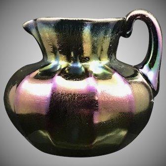 Thomas Webb Iridescent Bronze Glass Pitcher, ca. 1890