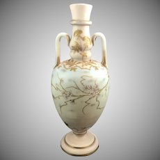 Harrach Neuwelt Bohemian Art Glass Enameled Vase, ca. 1885